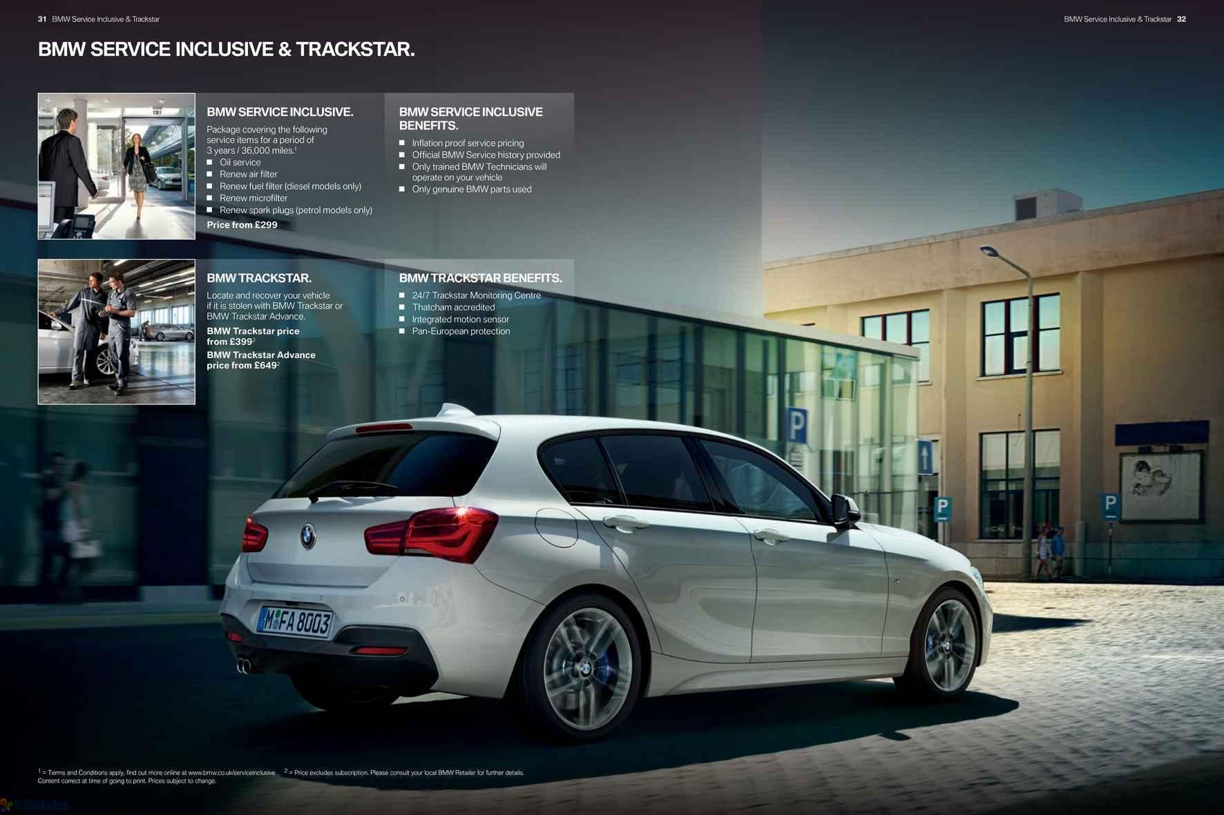 BMW BMW Series Door Sports Hatch Price List Leaflet BMW - Bmw 1 series 3 door price
