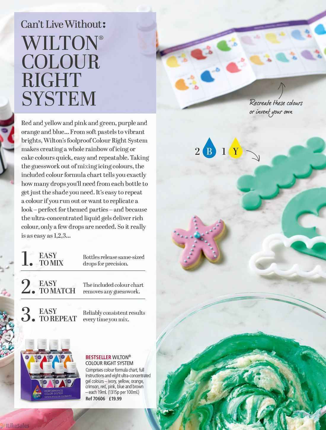 Wilton Gel Food Coloring Mixing Chart | Foodfash.co
